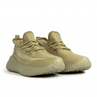 Ανδρικά ελαστικά μπεζ αθλητικά παπούτσια it180820-7 3