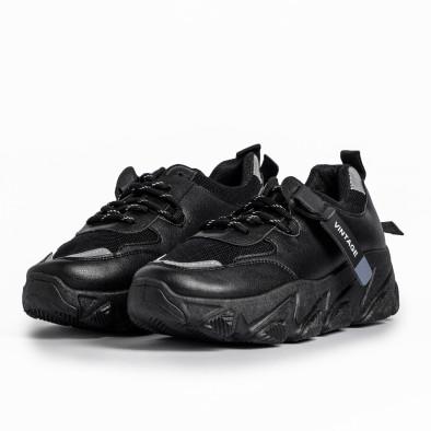 Γυναικεία μαύρα αθλητικά παπούτσια FM it280820-12 3