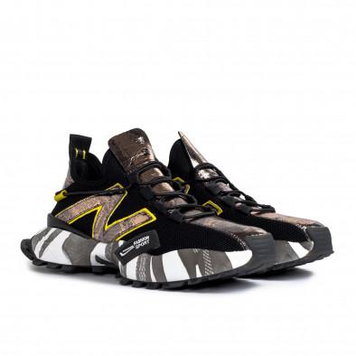 Slip-on ανδρικά μαύρα sneakers gr270421-32 3