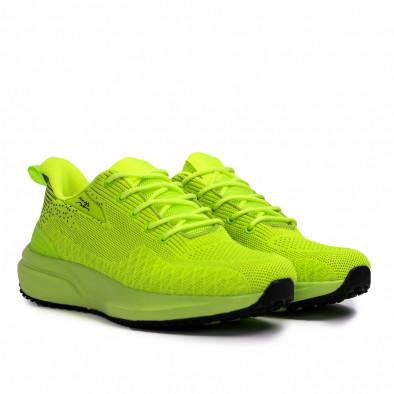 Ανδρικά πράσινα sneakers σε υφή it090321-6 3