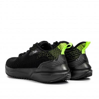 Ανδρικά μαύρα sneakers σε υφή it090321-7 3