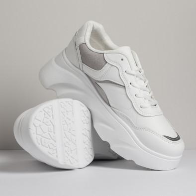 Γυναικεία λευκά αθλητικά παπούτσια FM it280820-17 3