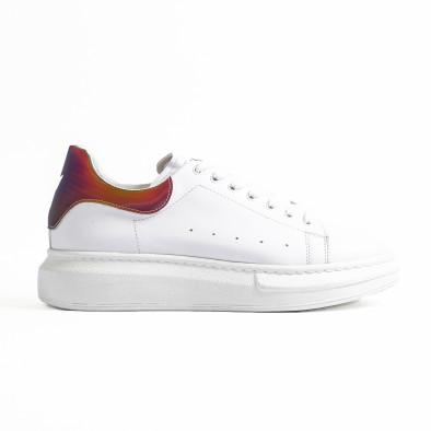 Ανδρικά λευκά sneakers με χοντρή σόλα tr300420-1 3