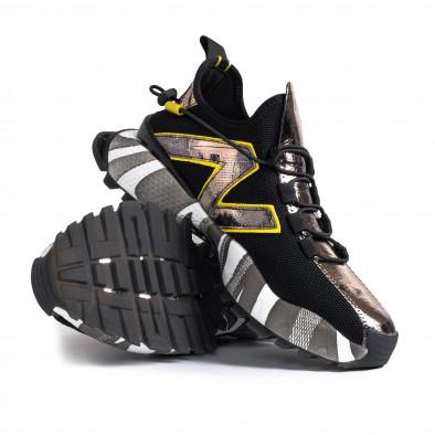 Slip-on ανδρικά μαύρα sneakers gr270421-32 5