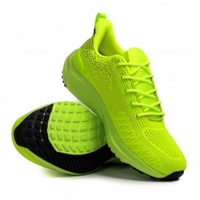 Ανδρικά πράσινα sneakers σε υφή it090321-6 4
