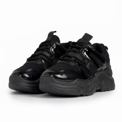Γυναικεία μαύρα αθλητικά παπούτσια FM it280820-4 3