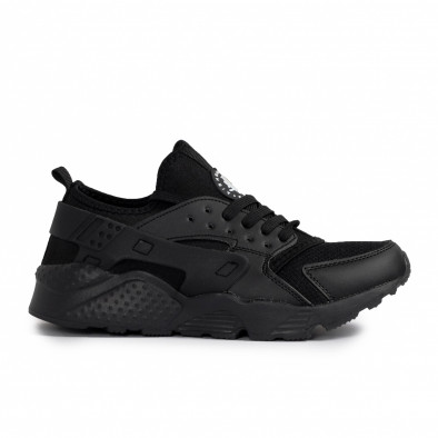 Ανδρικά μαύρα sneakers Plus Size gr020221-16 2