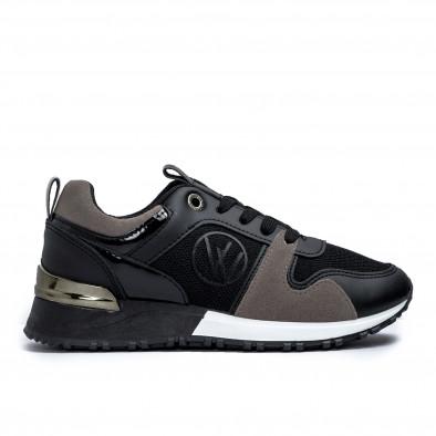 Γυναικεία  sneakers σε μαύρο και γκρι it110221-1 2