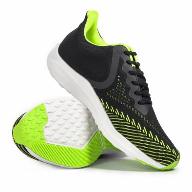 Ανδρικά μαύρα αθλητικά παπούτσια Kiss GoGo it260620-5 4