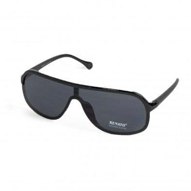 Ανδρικά μαύρα γυαλιά ηλίου μάσκα il200521-12 2