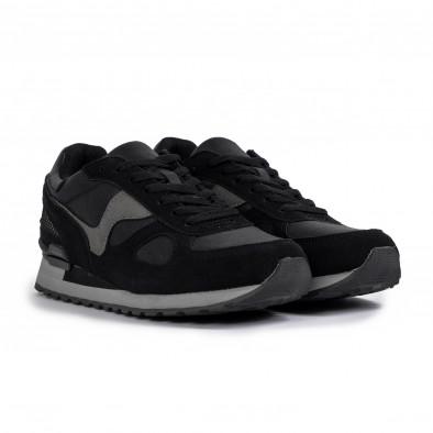 Ανδρικά μαύρα αθλητικά παπούτσια Flair it300920-53 3