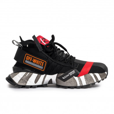 Destructured Chunky ανδρικά μαύρα sneakers gr020221-14 3