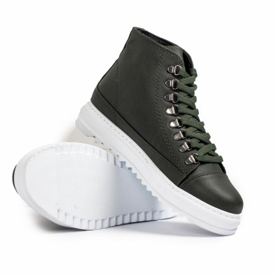 Ανδρικά πράσινα sneakers Trekking design tr181120-4 5