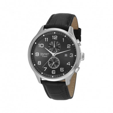Ανδρικό ρολόι Esprit Quartz Chronograph Black Dial Black Leather