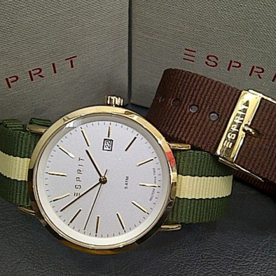 Ανδρικό ρολόι Esprit White Dial Yellow Gold Plated ES108361002 ES108361002 2