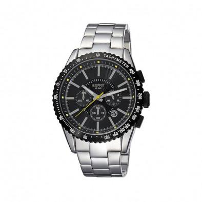 Ανδρικό ρολόι Esprit Quartz Chronograph PVD Black ES104031006
