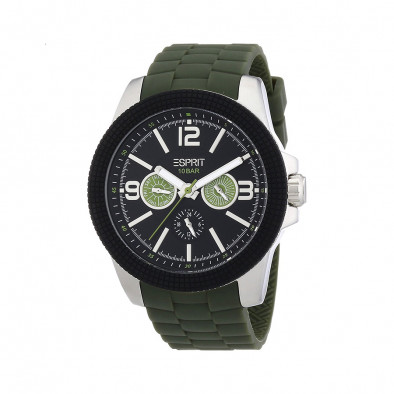 Ανδρικό ρολόι Esprit Black Dial Olive Band