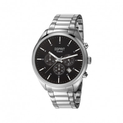 Ανδρικό ρολόι Esprit Steel Quartz Chronograph Black Dial