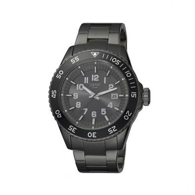 Ανδρικό ρολόι Esprit Quartz Chronograph PVD Black ES103631007