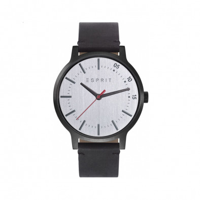 Ανδρικό ρολόι Esprit Silver Dial Black Leather Quartz