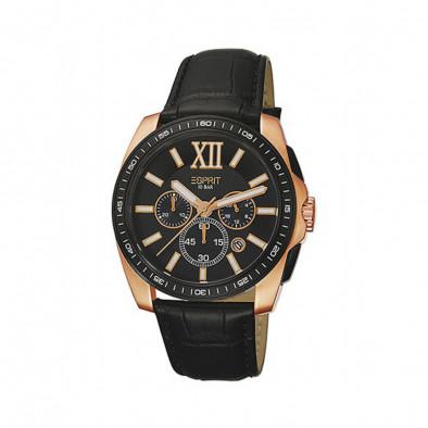 Ανδρικό ρολόι Esprit Quartz Chronograph PVD Black ES103591003