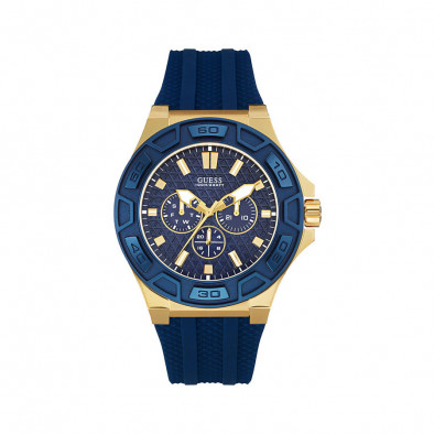 Ανδρικό ρολόι Guess Indigo Illusion Gold Plated W0674G2