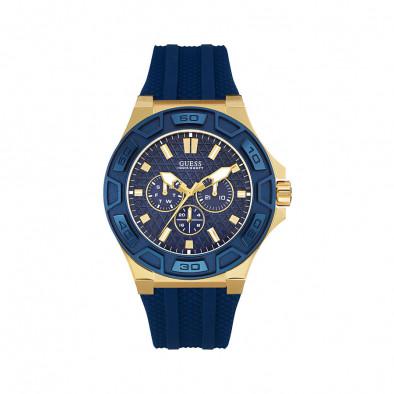 Ανδρικό ρολόι Guess Indigo Illusion Gold Plated W0674G2