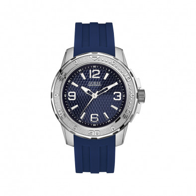 Ανδρικό ρολόι Guess Blue Dial Meridian W0682G1