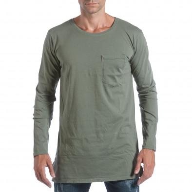 Ανδρική πράσινη μπλούζα MM Studio it160817-84 2