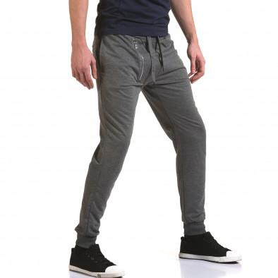 Ανδρικό γκρι παντελόνι jogger Belmode it090216-43 4