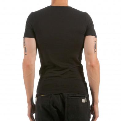 Ανδρική μαύρη κοντομάνικη μπλούζα Denim Republic il120515-101 3