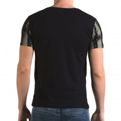 Ανδρική γαλάζια κοντομάνικη μπλούζα Lagos il120216-46 3