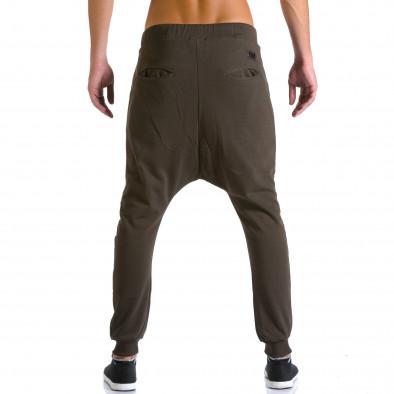 Ανδρικό καφέ παντελόνι jogger Devil Slayer ca260815-25 3