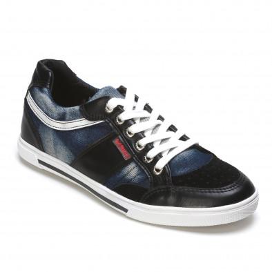 Ανδρικά γαλάζια sneakers Staka it110315-11 3