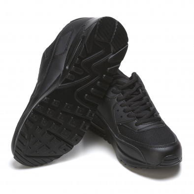 Ανδρικά μαύρα αθλητικά παπούτσια Fast Lee It050216-7 4