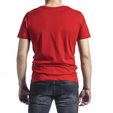 Ανδρική κόκκινη κοντομάνικη μπλούζα Breezy tr270221-44 3