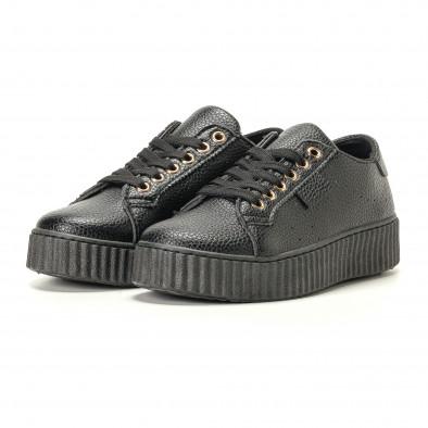 Γυναικεία μαύρα sneakers Ideal Shoes it200917-57 3