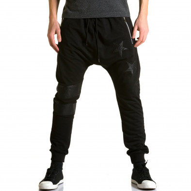 Ανδρικό μαύρο παντελόνι jogger Jack Davis ca190116-21 2