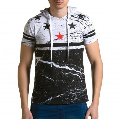 Ανδρική λευκή κοντομάνικη μπλούζα Belman ca190116-39 2