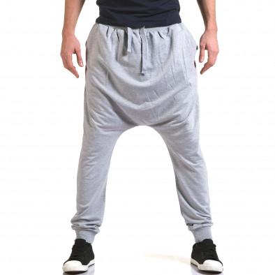 Ανδρικό γκρι παντελόνι jogger Dress&GO it090216-34 2