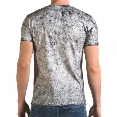 Ανδρική γκρι κοντομάνικη μπλούζα Lagos il120216-17 3