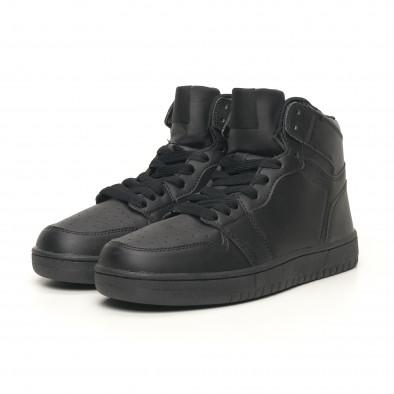 Ανδρικά ψηλά μαύρα sneakers it051219-1 3