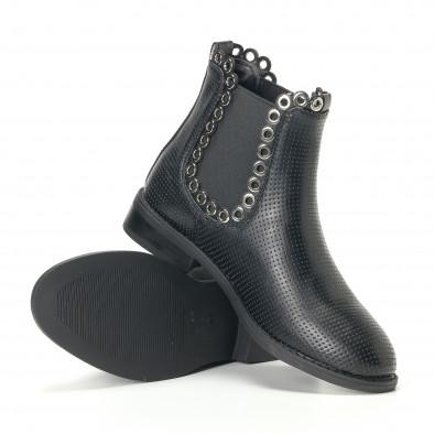 Γυναικεία μαύρα μποτάκια Diamantique it240118-3 5