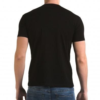 Ανδρική μαύρη κοντομάνικη μπλούζα Lagos il120216-43 3