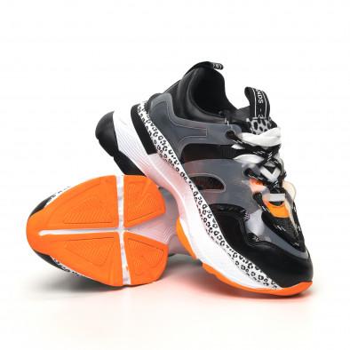Γυναικεία μαύρα sneakers Sense8 tr180320-14 4