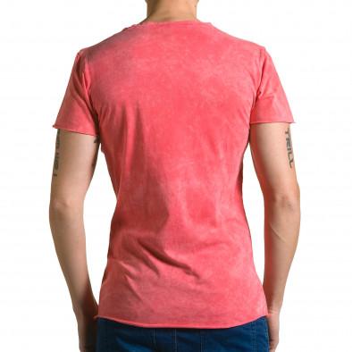 Ανδρική κόκκινη κοντομάνικη μπλούζα Adrexx ca190116-47 3