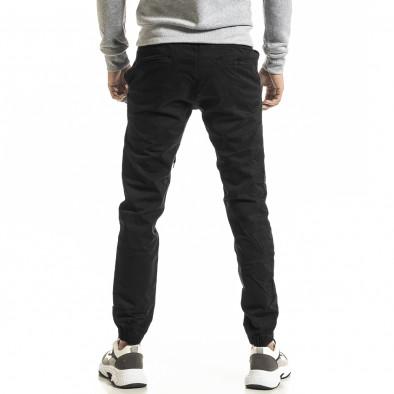 Ανδρικό μαύρο παντελόνι Jogger tr031220-1 3