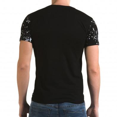 Ανδρική μαύρη κοντομάνικη μπλούζα Lagos il120216-1 3