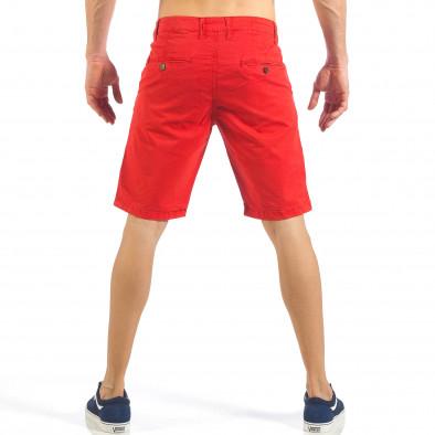 Ανδρική κόκκινη βερμούδα με ιταλικές τσέπες it260318-138 3