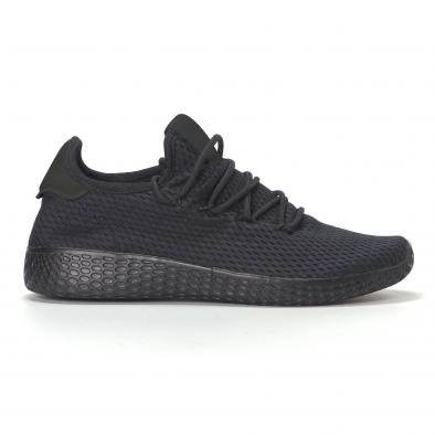 Ανδρικά μαυρα ελαφρία αθλητικά παπούτσια All-black it240418-31 2